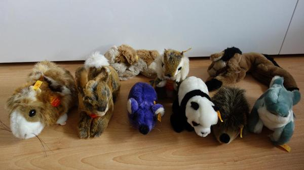 10 steiff tiere zusammen oder einzeln zu verkaufen in lauffen spielzeug berraschungseier. Black Bedroom Furniture Sets. Home Design Ideas
