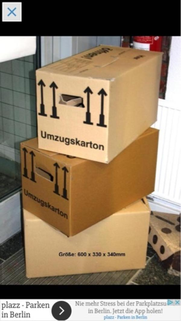 100 umzugskartons umzugskisten umzugsboxen xxl m in berlin umzugskartons verpackung kaufen. Black Bedroom Furniture Sets. Home Design Ideas