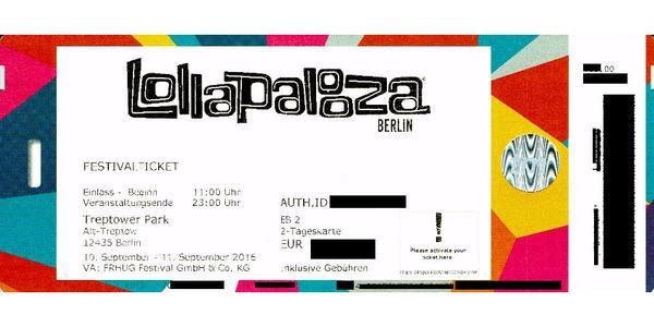 lollapalooza tickets aktivieren