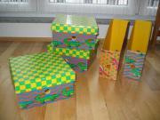 3 Boxen + 2