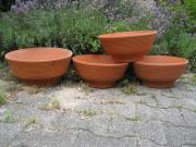 4 Tonschalen Terracotta-