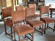 6 antike Esszimmerstühle