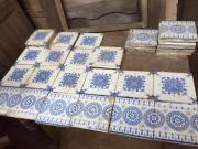 antieke wit-blauwe