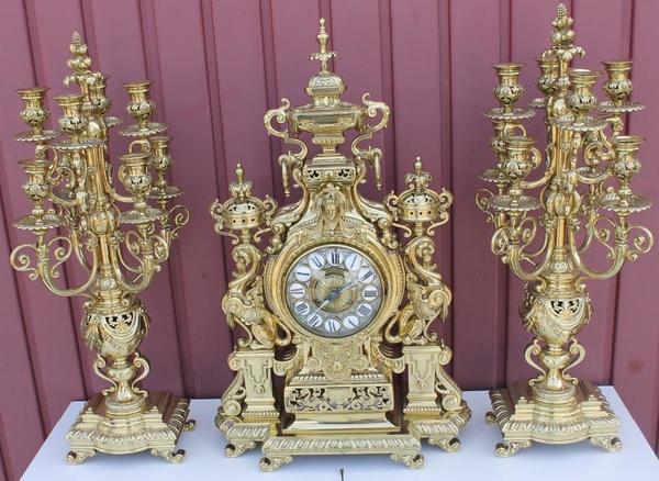 antike franz sische kaminuhr tischuhr pendule aus feuervergoldete bronze in s dbrookmerland. Black Bedroom Furniture Sets. Home Design Ideas