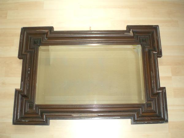 Antiker spiegel aus massivholz spiegel antik in bad for Garderobe 1m breit