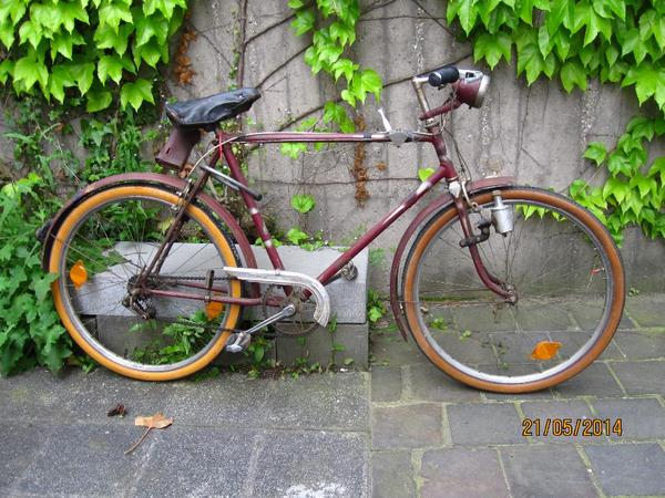 antikes fahrrad bauer 1920 40 fahrbereit gangschaltung in. Black Bedroom Furniture Sets. Home Design Ideas