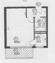 Apartment mit großem