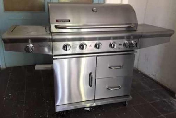 edelstahl gasgrill mit backburner backburner grill. Black Bedroom Furniture Sets. Home Design Ideas