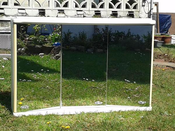 Bad Spiegelschrank Dreitürig Kristallglas in Bad Wimpfen   Bad