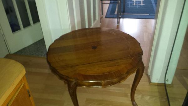 Intarsien tisch neu und gebraucht kaufen bei for Esstisch rund marmorplatte