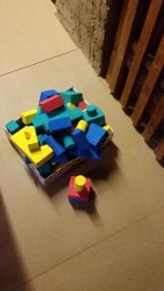 Bausteine u. Puzzlematte