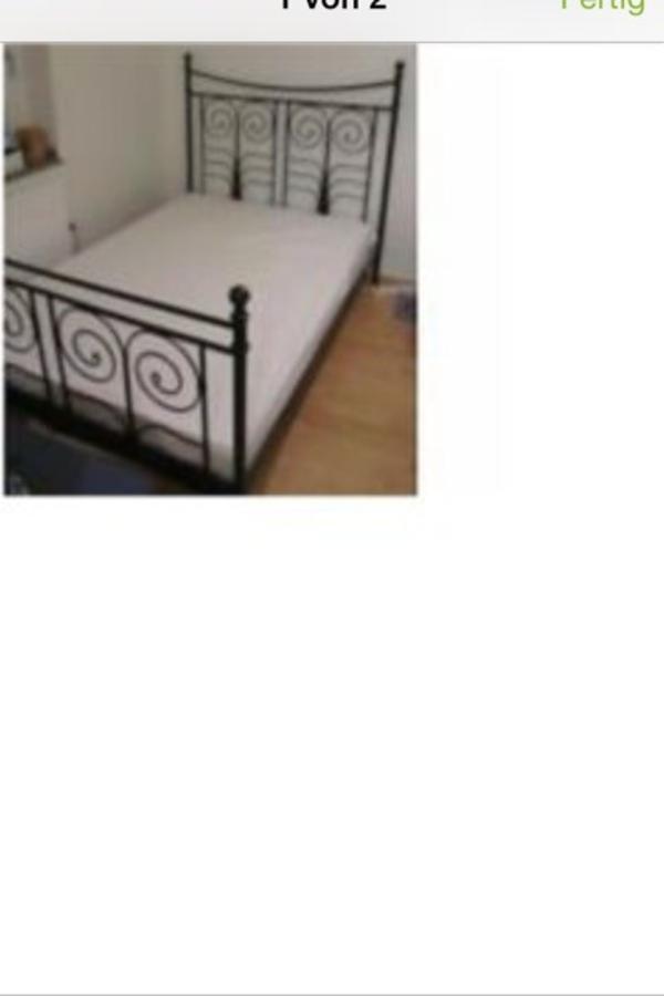 bett schwarz ikea in m nchen betten kaufen und verkaufen. Black Bedroom Furniture Sets. Home Design Ideas