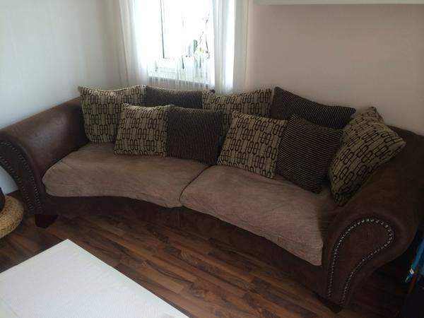 big sofa xxl couch york in beige braun sehr gut erhalten. Black Bedroom Furniture Sets. Home Design Ideas