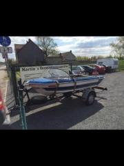Boot mit Trailer,