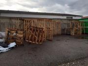 Brennholz, Buchenpaletten zu