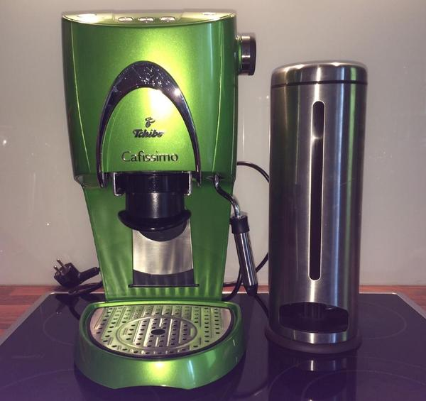 cafissimo kaffeemaschine grün von tschibo  wie neu  inkl  ~ Kaffeemaschine Cafissimo Entkalken