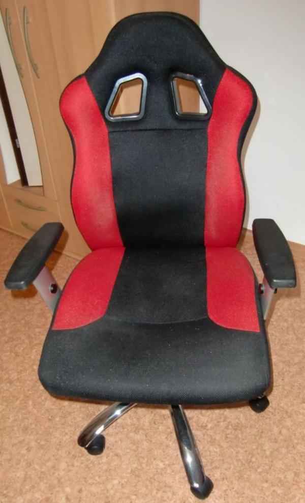 chefsessel b rostuhl rot schwarz neuw in ludwigshafen. Black Bedroom Furniture Sets. Home Design Ideas