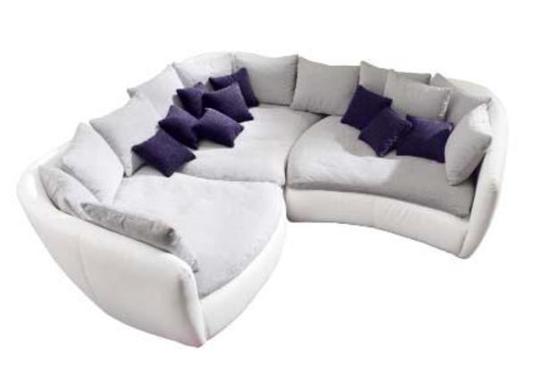 Couch Grau-Braun 3-Elemente-Couch / Teilkunstleder in ...