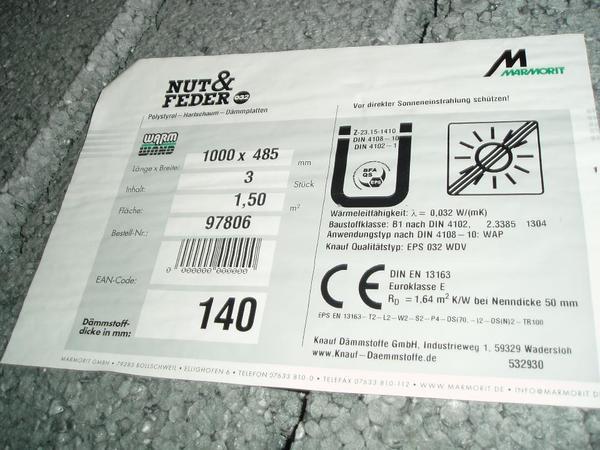 d mmplatten eps 032 wdvs polystyrol hartschaum 140mm in. Black Bedroom Furniture Sets. Home Design Ideas