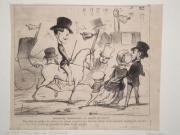 Daumier Lithografie rar