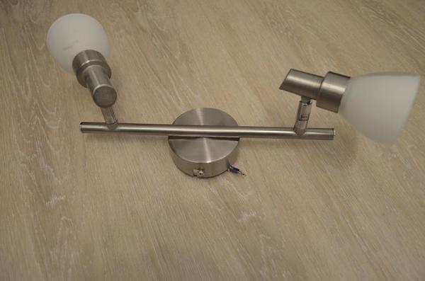 deckenlampe edelstahl und wei 2 strahlig in darmstadt lampen kaufen und verkaufen ber. Black Bedroom Furniture Sets. Home Design Ideas