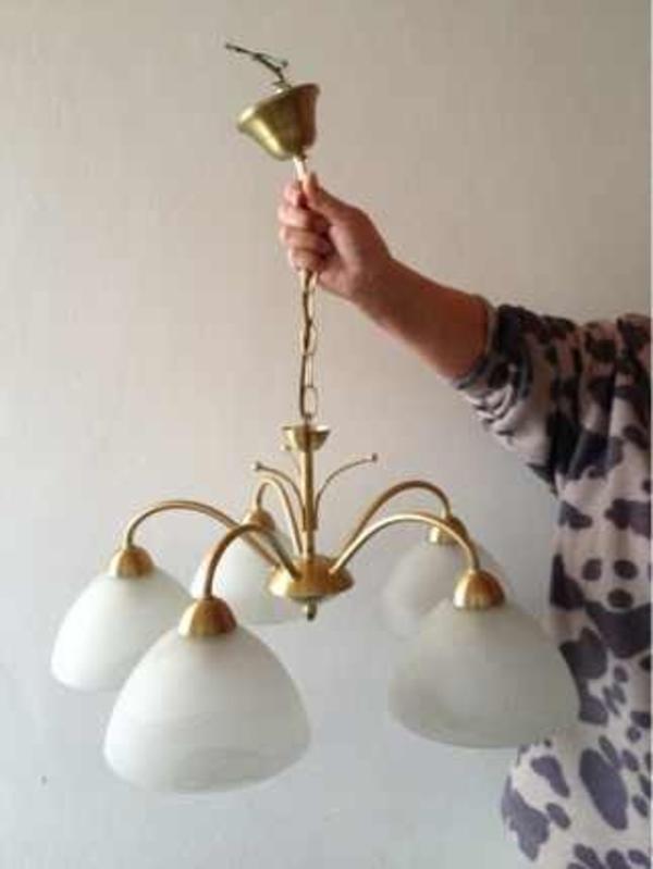 deckenlampe moderne esstischlampe messing mit milchglas marmoriert in starnberg lampen. Black Bedroom Furniture Sets. Home Design Ideas