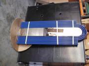 Designheizkörper blau mit