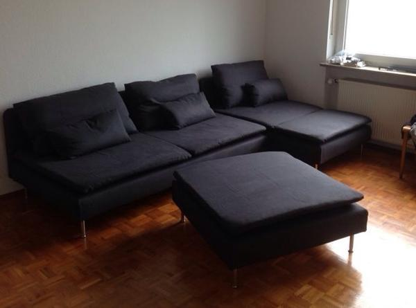 dunkelgraues sofa ikea s derhamn serie in weiden polster sessel couch kaufen und. Black Bedroom Furniture Sets. Home Design Ideas
