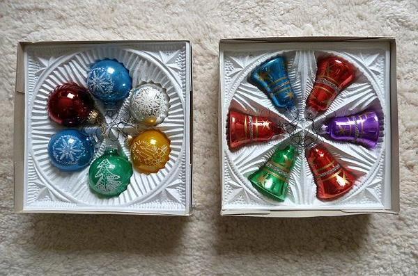 eckartina weihnachtsbaumkugeln glocken glas original 70er. Black Bedroom Furniture Sets. Home Design Ideas