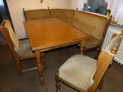 Eckbank, 2 Stühle