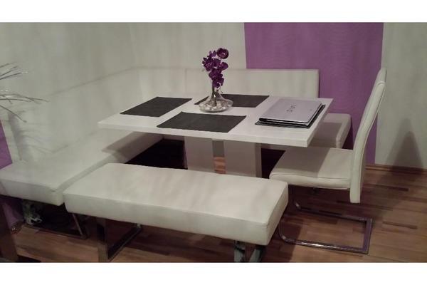 eckbankgruppe mit bequemer eck polsterung wei in n rnberg speisezimmer essecken kaufen und. Black Bedroom Furniture Sets. Home Design Ideas