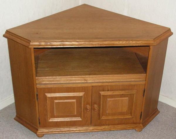 eichefurnier phonoschrank fernsehschrank eckschrank schrank eichen. Black Bedroom Furniture Sets. Home Design Ideas