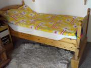 Einzelbett Kiefer massiv