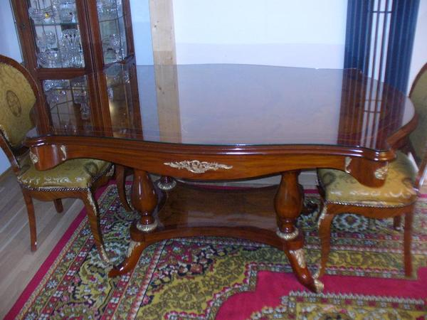 esszimmer barock tisch 8 st hle louis in stuttgart stilm bel bauernm bel kaufen und. Black Bedroom Furniture Sets. Home Design Ideas