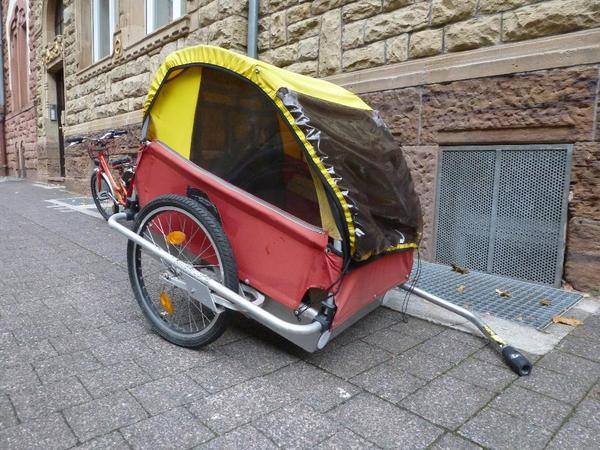 fahrrad anh nger von kindercar incl weber kupplung zu verkaufen im anh nger ist ausreichend. Black Bedroom Furniture Sets. Home Design Ideas