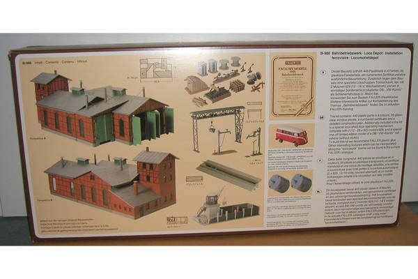 HO B-988 Exclusivmodell 1988 `Bahnbetriebswerk` , Bausatz in Germering ...