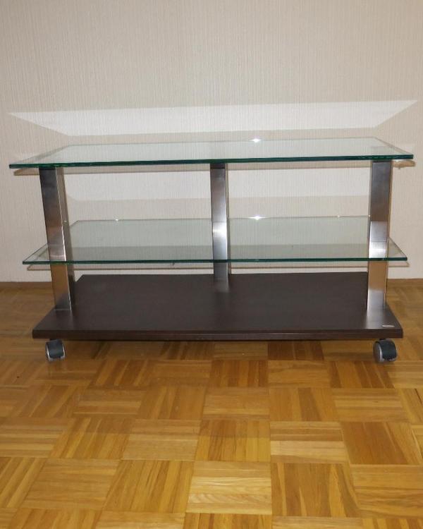 fernsehtisch mit rollen 90x45x50. Black Bedroom Furniture Sets. Home Design Ideas