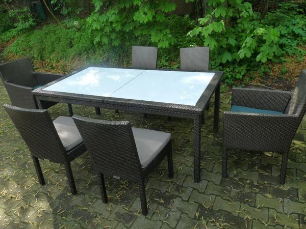 garpa sitzgruppe gartenm bel patio bronze ausziehtisch stuhle in hamburg kaufen und. Black Bedroom Furniture Sets. Home Design Ideas