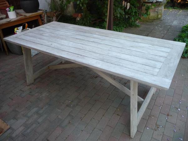 gartentisch massivholz tisch ca 220x79x100cm in hochdorf assenheim gartenm bel kaufen und. Black Bedroom Furniture Sets. Home Design Ideas