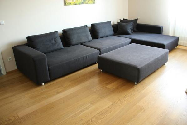 gem tliches xxl ecksofa mit ottomane 4 20 m x 2 12 m in. Black Bedroom Furniture Sets. Home Design Ideas
