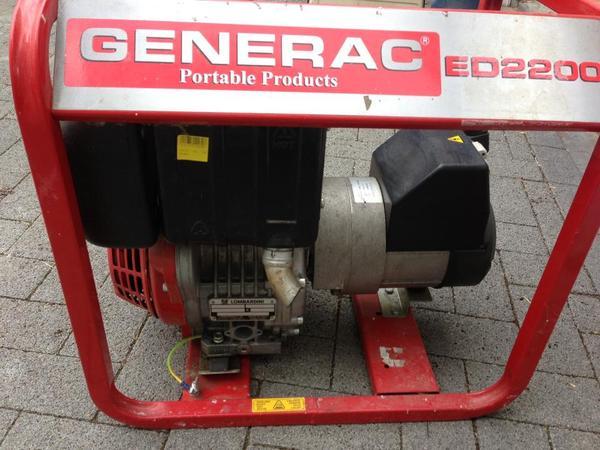 generator generac ed 2200 mit lombardini motor 2 2 kw. Black Bedroom Furniture Sets. Home Design Ideas