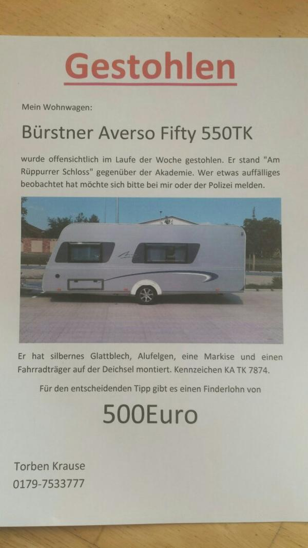 Gestohlen B Rstner Averso Fifty 550tk In Karlsruhe