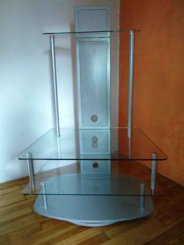 glas tv rack in schwaig phono tv videom bel kaufen und verkaufen ber private kleinanzeigen. Black Bedroom Furniture Sets. Home Design Ideas