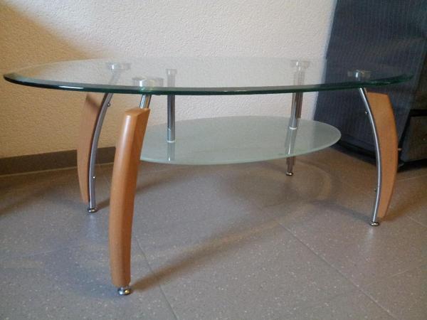 glastisch oval couchtisch in bad friedrichshall. Black Bedroom Furniture Sets. Home Design Ideas