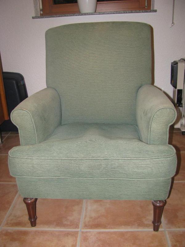 gr ner sessel ca mitte 19 jahrhundert in w rth. Black Bedroom Furniture Sets. Home Design Ideas