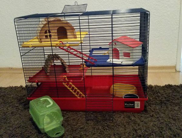 hamster k fig inklusive ausstattung in darmstadt zubeh r. Black Bedroom Furniture Sets. Home Design Ideas