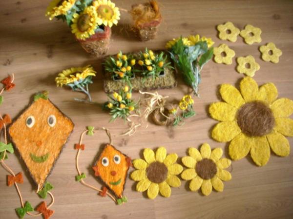 Herbst Deko Sonnenblumen Drachen Blumen Dekration