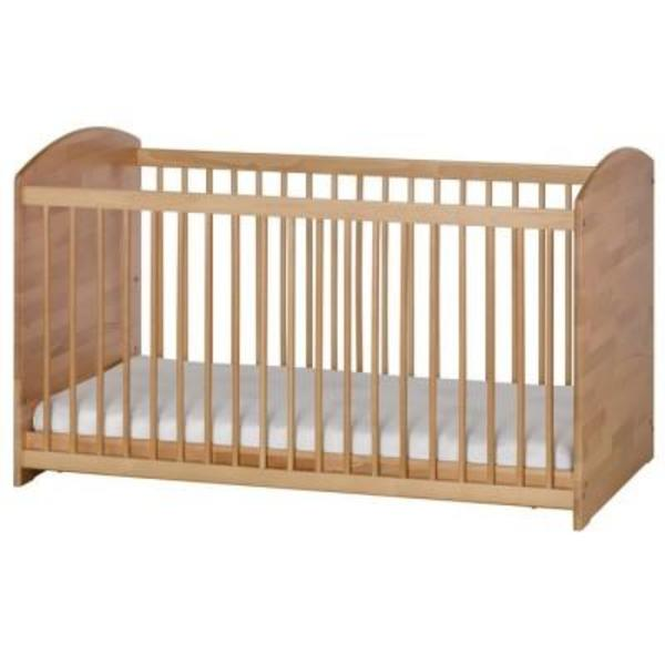 herlag kinderbett gitterbett babybett aus holz 140x70cm in lindenfels wiegen babybetten. Black Bedroom Furniture Sets. Home Design Ideas