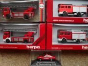 HERPA - 5 Feuerwehrmodelle