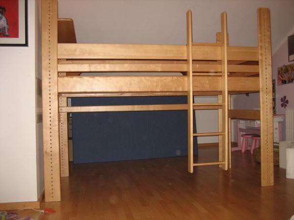 hochbett birke massiv von das kinderzimmer f r kinder jungendliche in weyarn betten kaufen. Black Bedroom Furniture Sets. Home Design Ideas